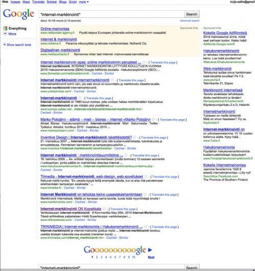 internetmarkkinointi-hakutulos
