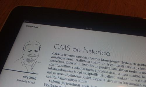 CMS on historiaa - Kenneth Falck 2011