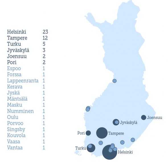 WP Suomessa kartalla